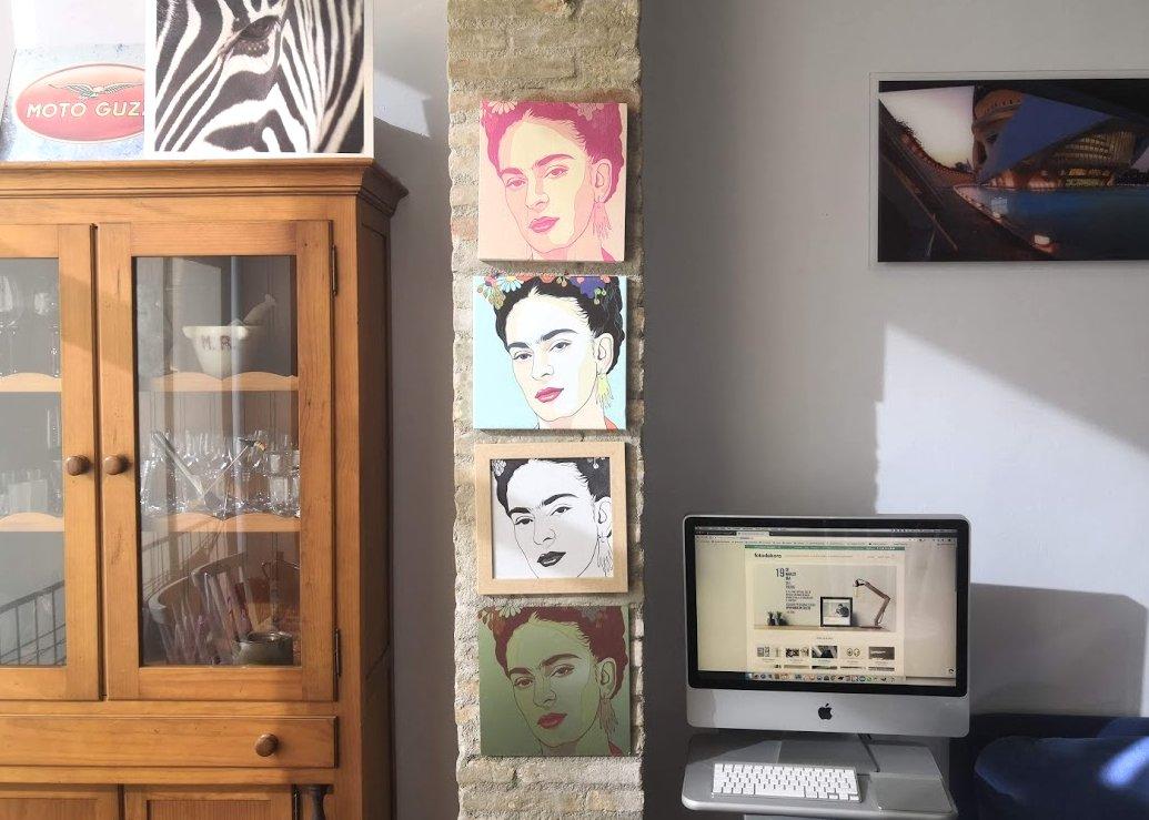 decoración con Frida Kahlo set