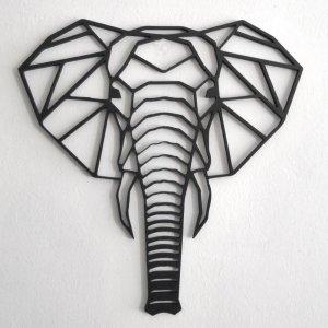 Cabeza elefante decoración
