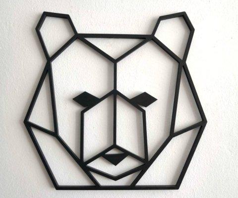 animales pared, un oso geometrico