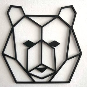 animales pared, un oso geometrico