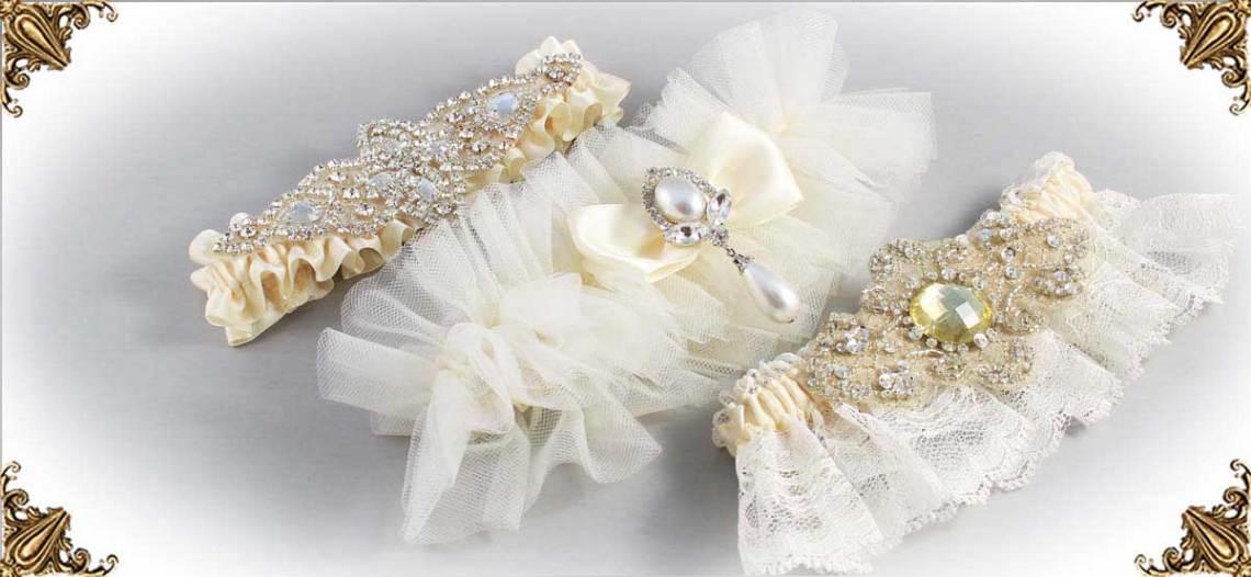 Solid-Ivory-Wedding-Garters-Bridal-Garters-Prom-Garters-Custom-Wedding-Garter-Linda-Joyce-Couture-Luxury-Bespoke