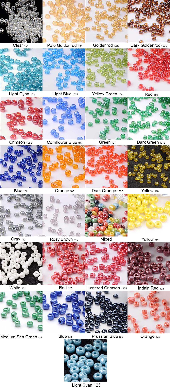 Bead-Color-Chart- Custom Wedding Garter