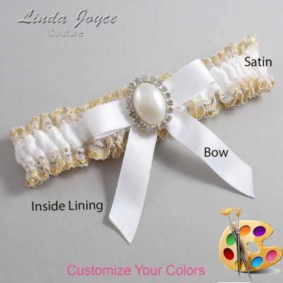 Customizable Wedding Garter / Harmony #04-B03-M31-Silver