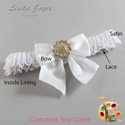 Customizable Wedding Garter / Penny #09-B01-M12-Gold