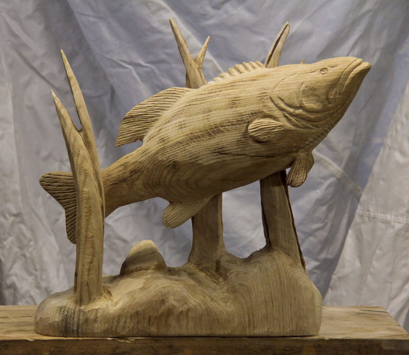 20 Large Mouth Bass Carving Custom Sculpture Sign Company