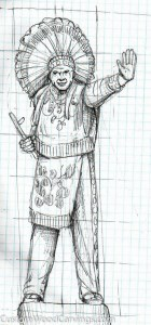 Herb Indian pencil sketch