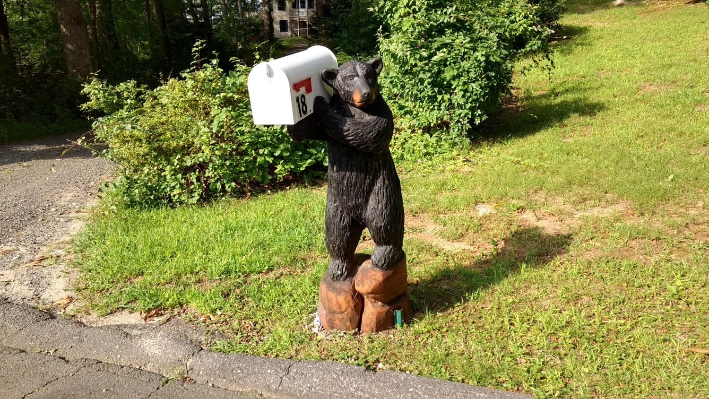 mailbox bear custom sculpture sign company