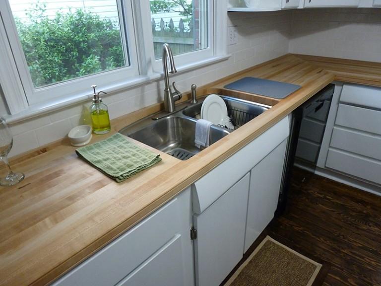 Hard Maple edge grain countertops - Southside Woodshop on Maple Countertops id=92932