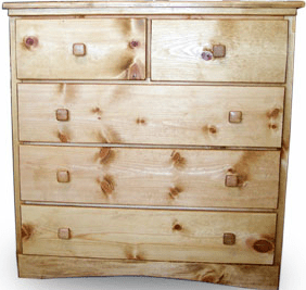 J Lee 5-Drawer Pine Dresser