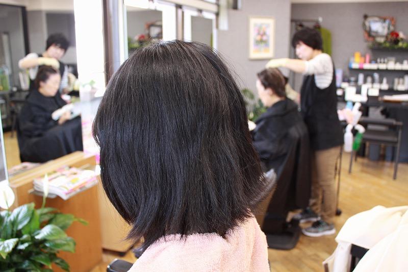 ご来店時 くせ毛と毛先のばさばさ