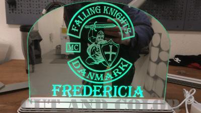 Spejlakryl med grøn LED