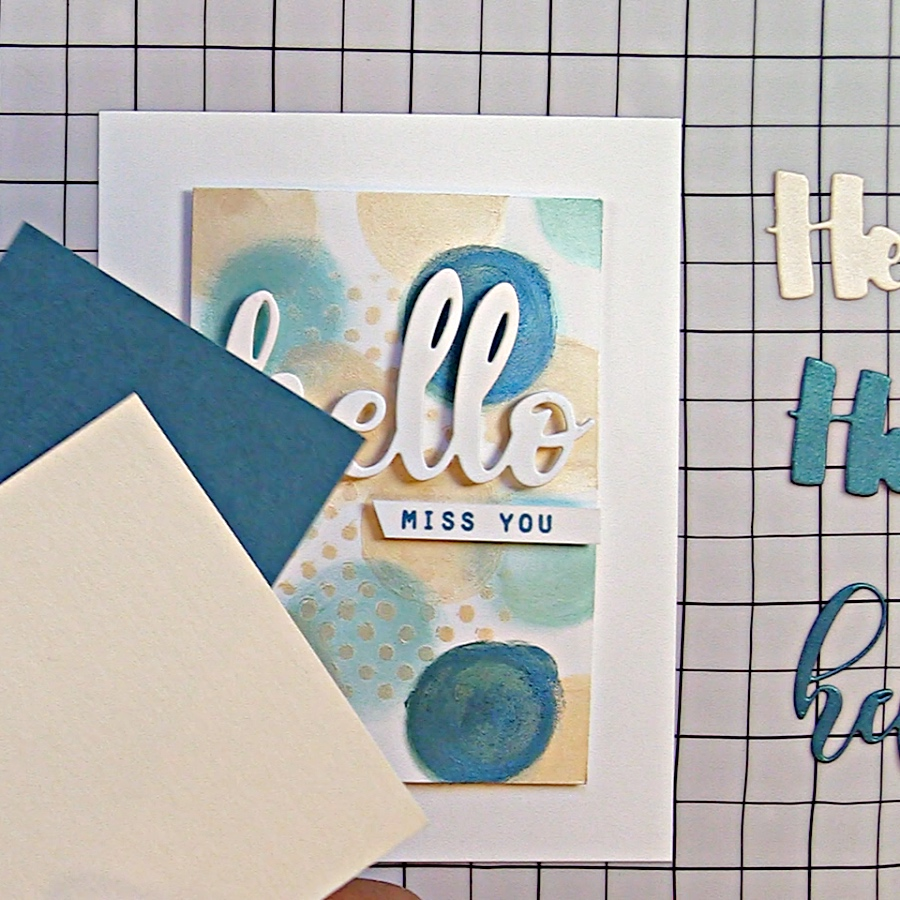 Coordinating cardstock with Nuvo Embellishment Mousse