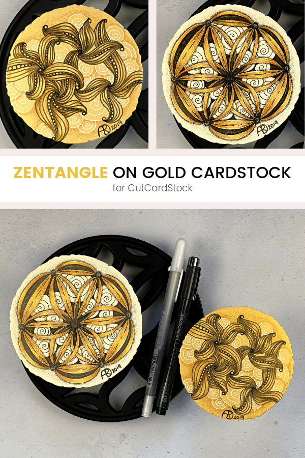 Pinterest | Zentangle on Gold Cardstock