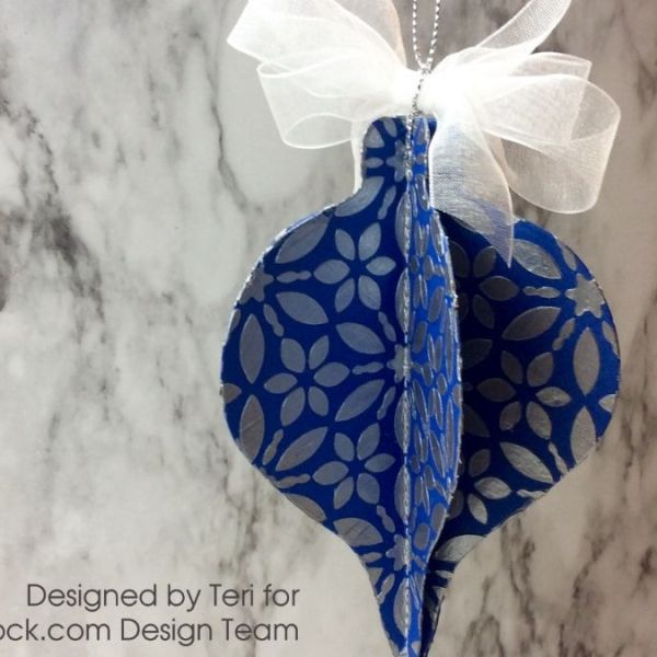 Three Dimensional Sparkly Christmas Ornament