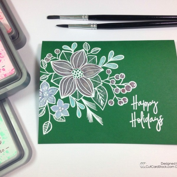 Holiday Countdown Series:  Water-coloring with Oxide Ink