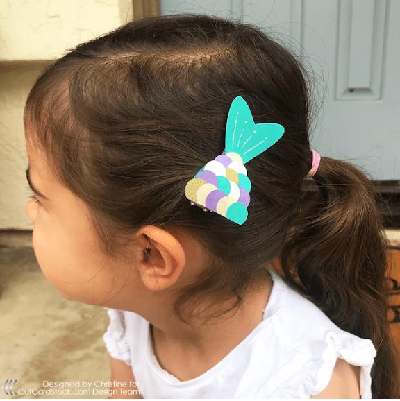 Mermaid Paper Hair Bow