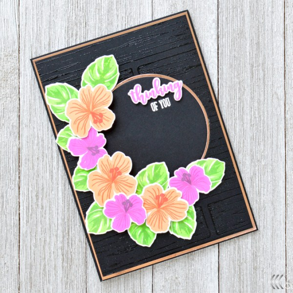 Bold & Bright Floral Card