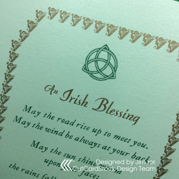 Letterpress Irish Blessing Greeting Card