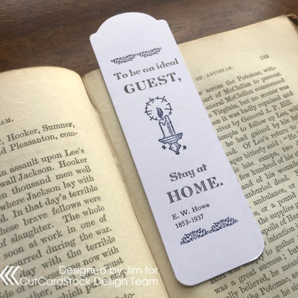 Scaled-Down Letterpress Bookmark