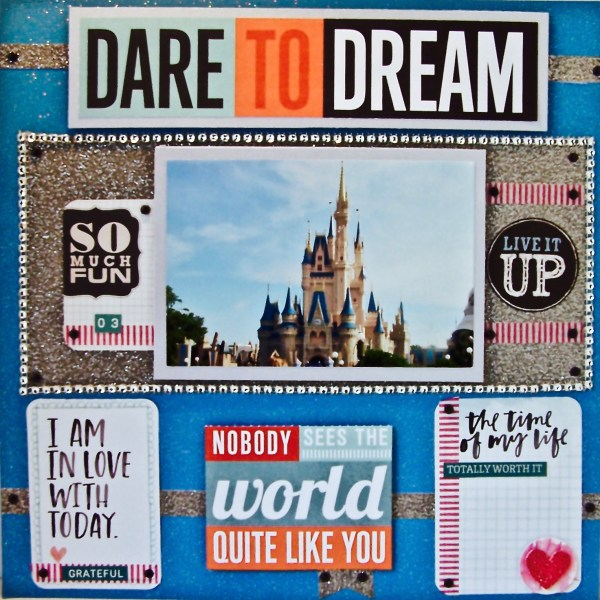 How to Scrapbook Your Disney Layouts With Cardstock