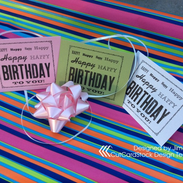 Birthday Card of Many Fonts and Many Colors