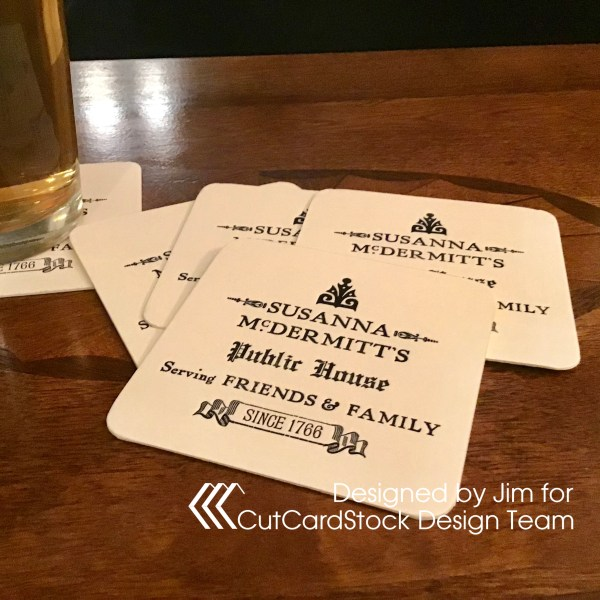 Letterpress Beverage Coasters
