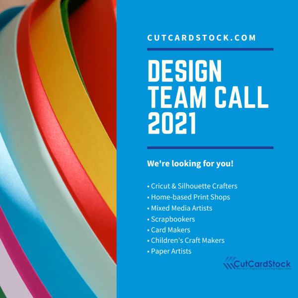 CutCardStock Design Team Call 2021
