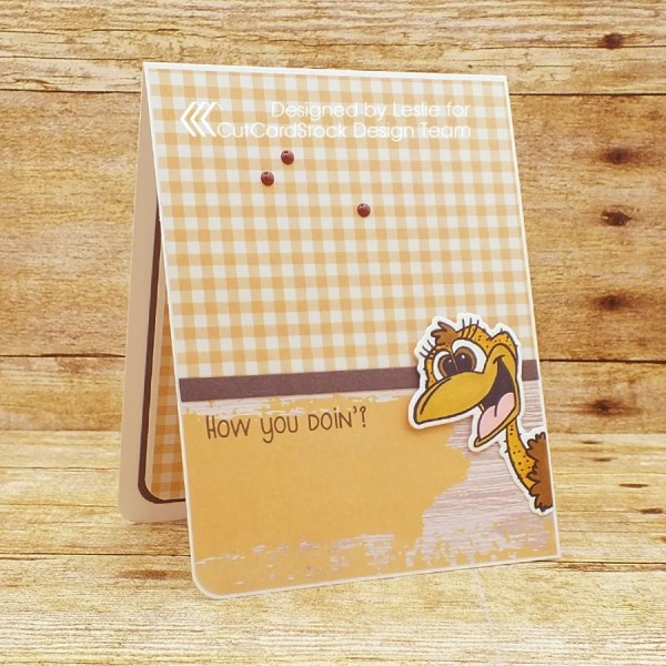 Create a simple whimsical 'missing you' card!