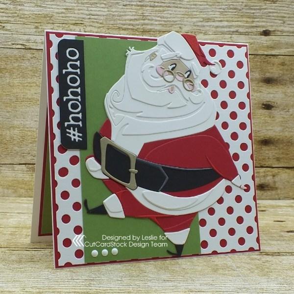 How to Create an Adorable Vintage Santa Christmas Card!