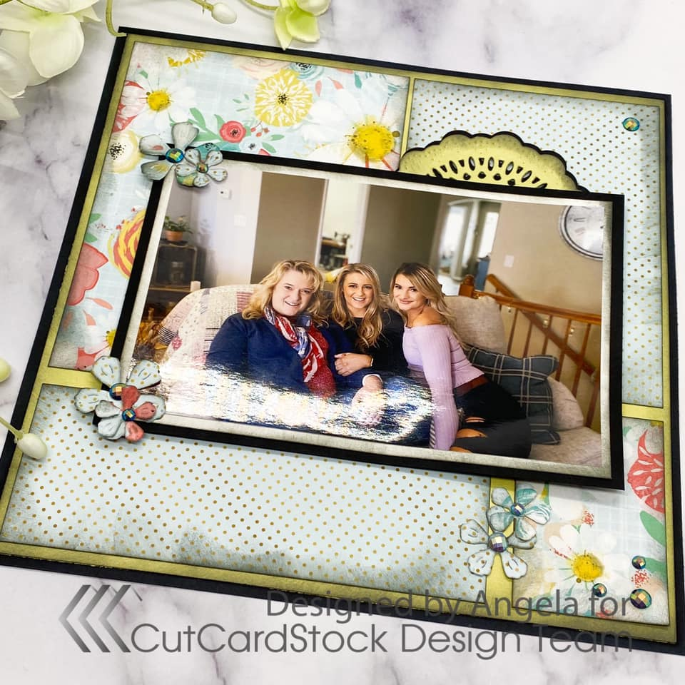 """Creating an 8""""x 8"""" Floral Themed Scrapbook Page"""
