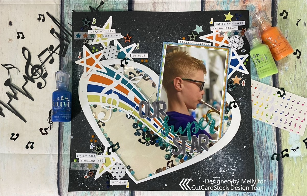 Superstar Scrapbook Layout
