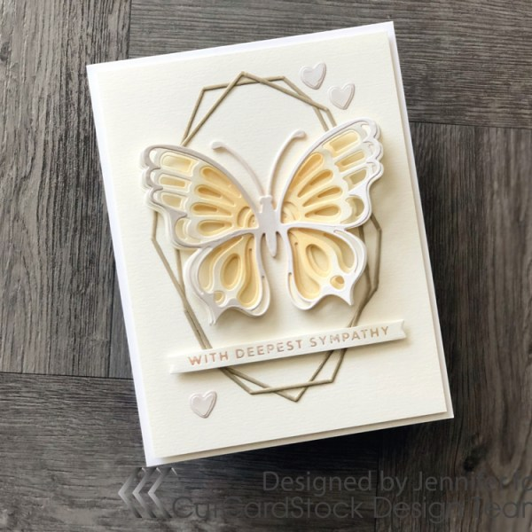 Curious Metallic Paper Sympathy Card