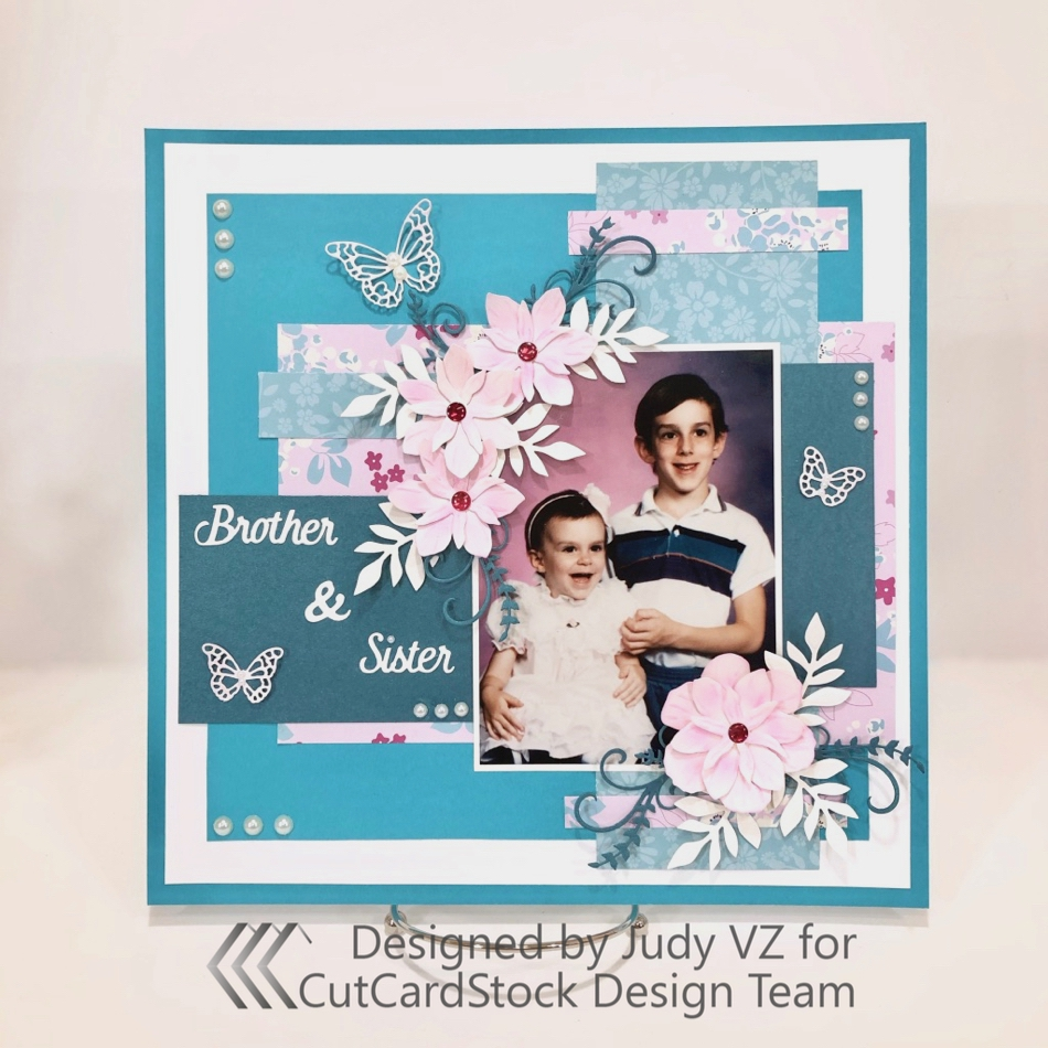 Brother and Sister Scrapbook Layout