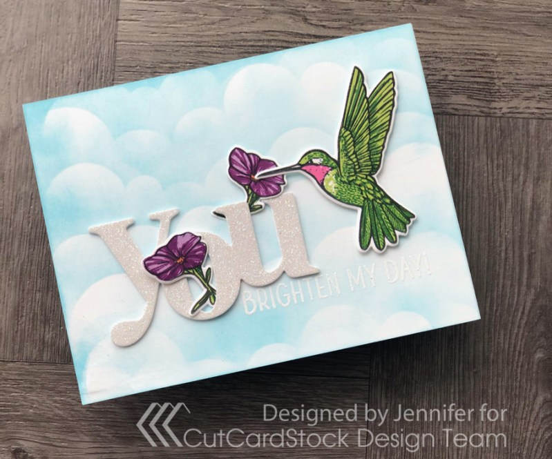 Use a Sentiment Cut from Glitter Cardstock