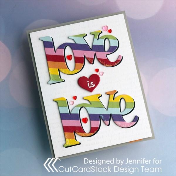 Create Your Own Cardstock Rainbow