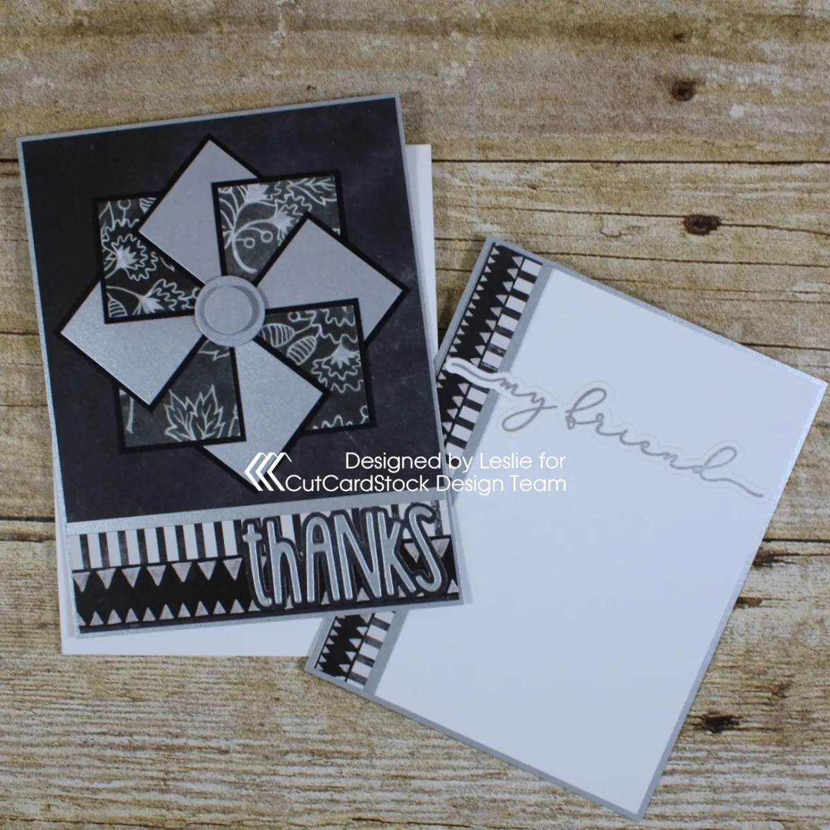 Say Thanks With a Pretty Pinwheel Card!