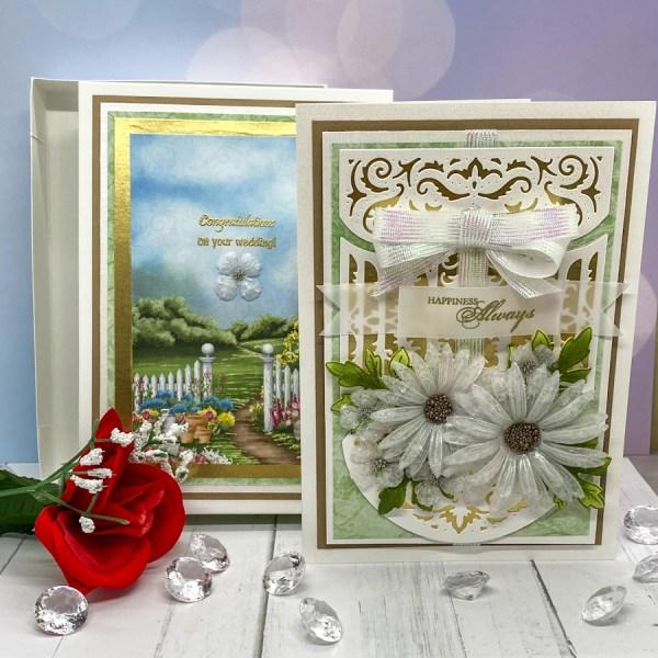Beautiful Wedding Card and Matching Box