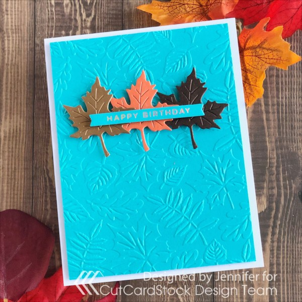 Autumn Colors on a Clean and Simple Card