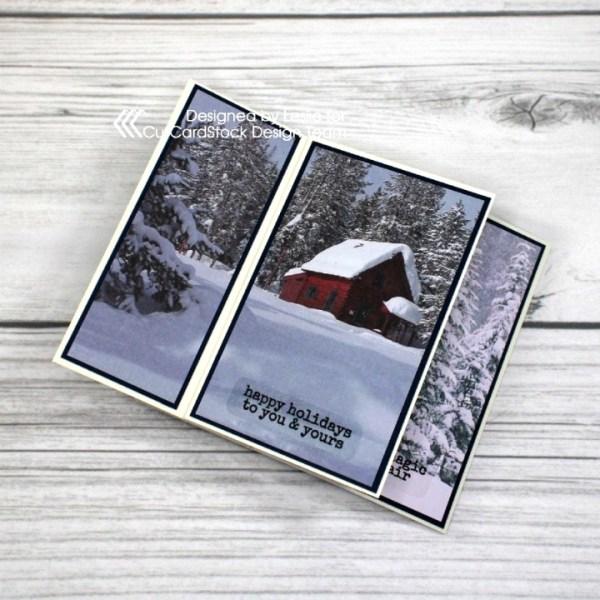 Let's Create a Snowy Scenes Fun Fold Card!