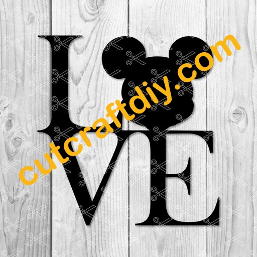 Download Love Mickey Mouse SVG PNG DXF Cut Files - Disney SVG