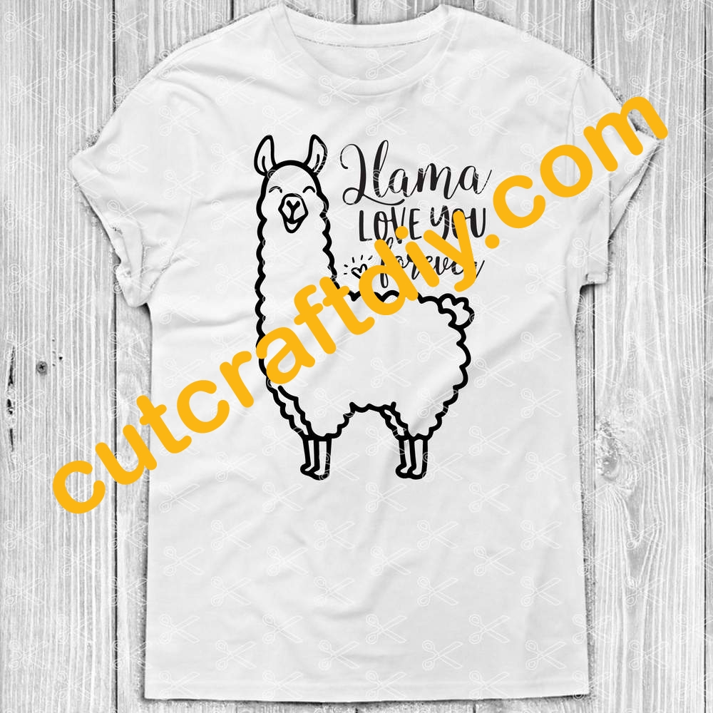 Download Llama Love You Forever SVG DXF PNG - Valentines Day SVG