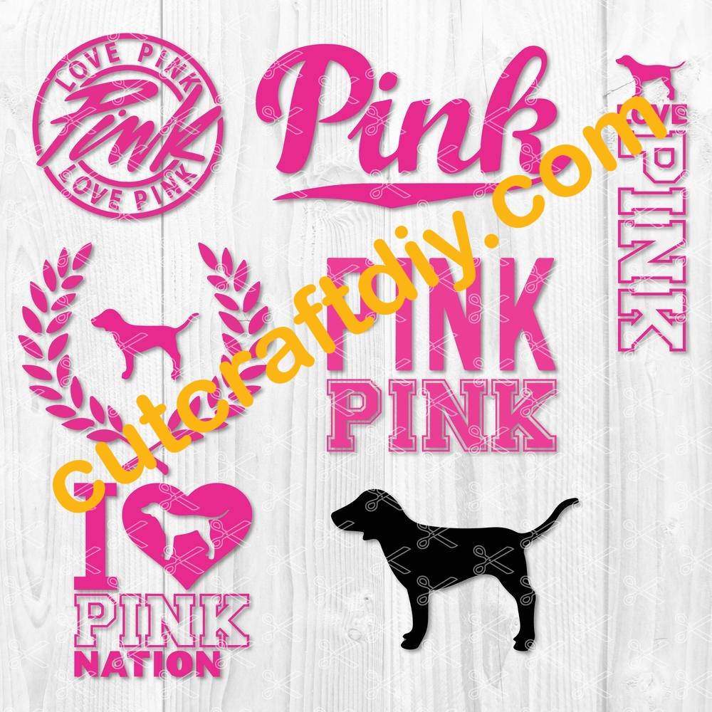 Download Love Pink SVG DXF PNG EPS Cut Files - High Quality Premium ...