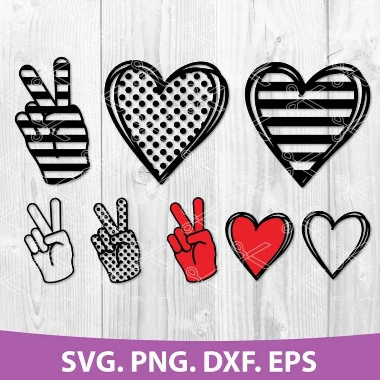 Download Peace Love Bundle SVG, DXF, PNG, EPS, Cut Files - High ...