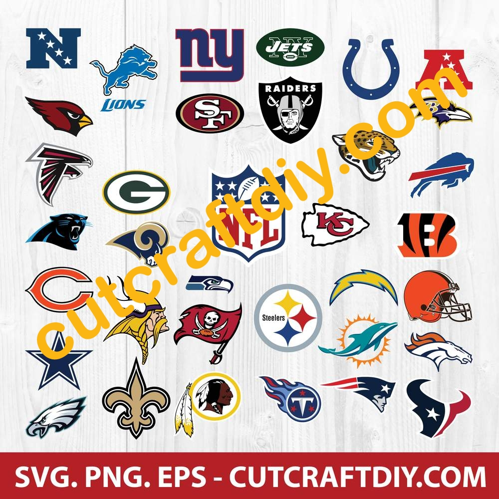 Download NFL Football Logos SVG, EPS, PNG, Cut Files - NFL Football ...