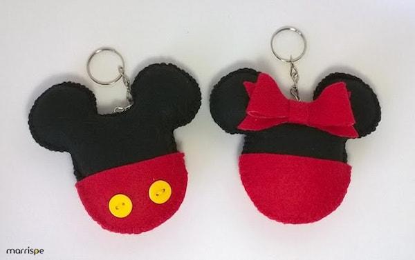 key01 min - 誰でも簡単に作れるハンドメイドアイテム「ミッキー&ミニーキーホルダー」 ~ バザー出品にも!!