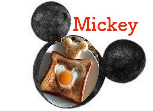 mickeypan06 min - ミッキーマウスの目玉焼きトースト|作り方簡単! 休日のブランチにいかがですか?