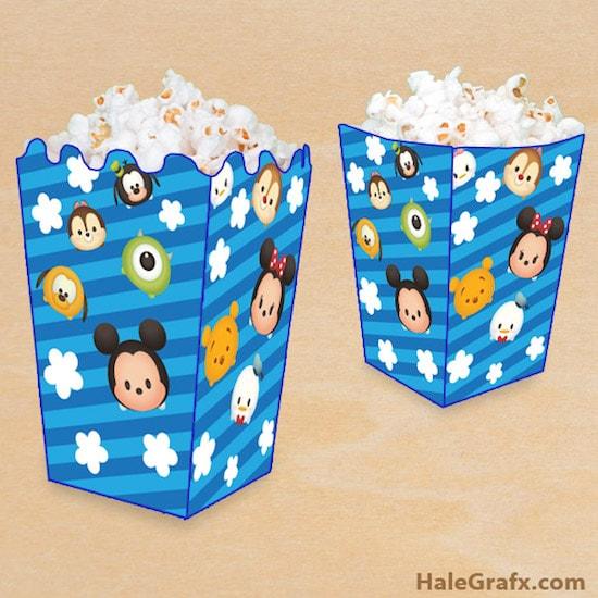 tsum tsum popcorn box min - 卒園 卒業 お別れパーティー 〜 かわいいツムツムパーティーのアイデアたちが活かせる!!