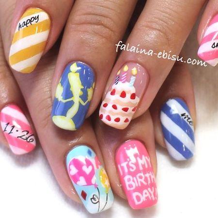 d nail07 min - 春のディズニーネイルを楽しもう 〜 ネイルカラーをプリンセスで揃えたい!!