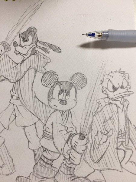 ira02 - ディズニーの手描きイラストがかわいすぎて才能を感じる 〜 才能がないと諦めている方へ