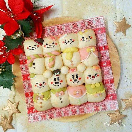tigiri03 min - ディズニーでクリスマスの食卓を楽しみたい 〜 かわいいディズニーちぎりパン